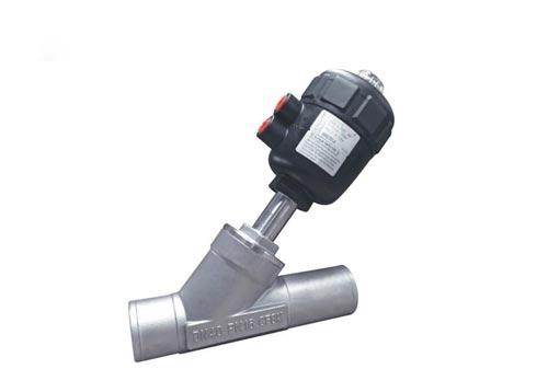 H5焊接气动角座阀塑料头