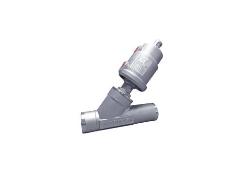 焊接气动角座阀不锈钢头H3